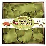Fox Run 3651 Farm Animal Cookie Cutter Set, Stainless Steel, 7-Piece