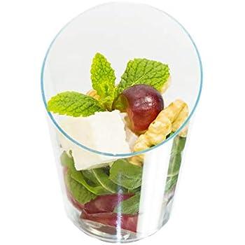 718f11b4609d Amazon.com: Zappy 250 Elegant Clear Slanted Cylinder Mini Dessert ...