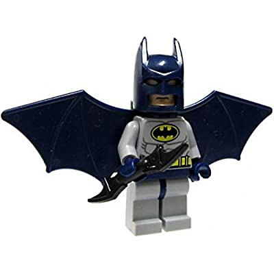 LEGO Batman Batman Minifigure (Blue Suit) with Glider Wings and Turbo Jet Backpack Assembly (Loose): Toys & Games