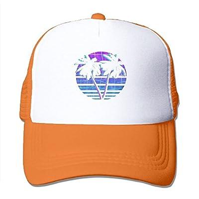 Coconut Trees Adjustable Snapback Baseball Cap Custom Mesh Trucker Hat by Huishe1