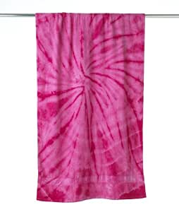 Tie Dye 7000 Tie-Dyed Beach Towel - Pink, One Size Fits Most