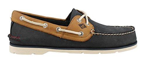 Men's Sperry, Leeward Boat Shoe NAVY TAN 10.5 - Canvas Boat Shoes