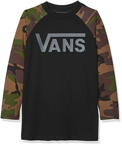 Vans Classic Raglan Long Sleeve T-Shirt Large (Jnr) Black ()