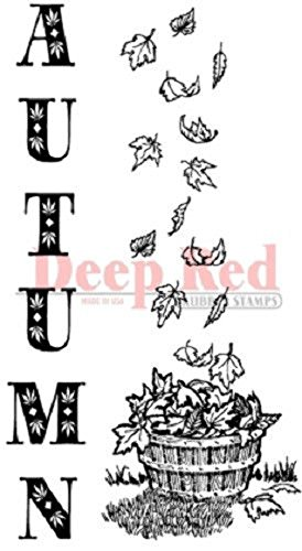 Autumn Leaves Rubber Stamps - 1