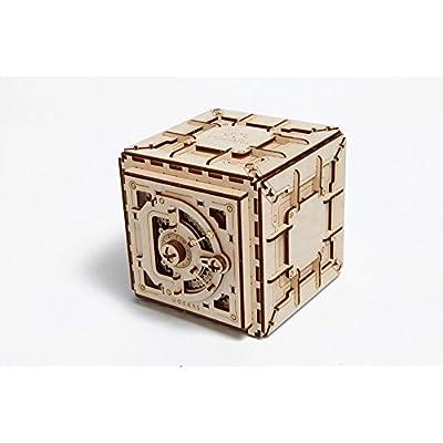 Model Safe Kit | 3D Wooden Puzzle | DIY Mechanical Safe: Toys & Games