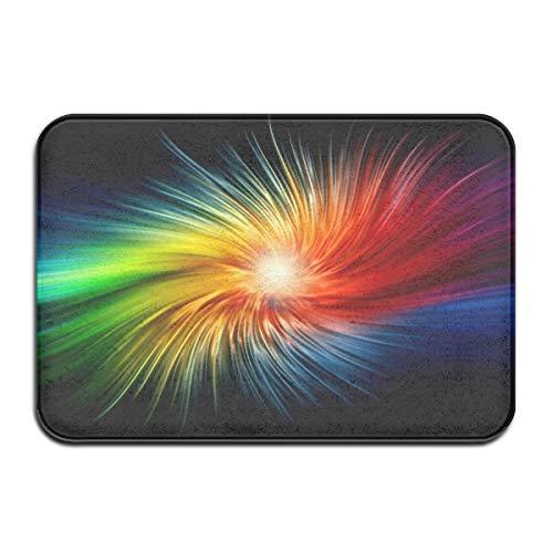 YILELE Limited Edition Color Splash Doormat Entrance Floor Mat Rug Indoor/Front Door/Bathroom/Kitchen Living Room/Bedroom Mats Rubber Non Slip(23.6