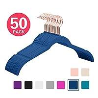 MIZGI Velvet Hangers,Clothes Hangers,Hangers Non Slip Velvet,Felt Hangers,Huggable Hangers,Huggable Hangers,Velvet Shirt Hangers,Rose Gold Hangers,Copper,Black ...