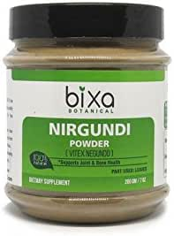 Nirgundi Leaf Powder (Vitex negundo), Supports Joint & Bone Health by Bixa Botanical - 7 Oz (200g)