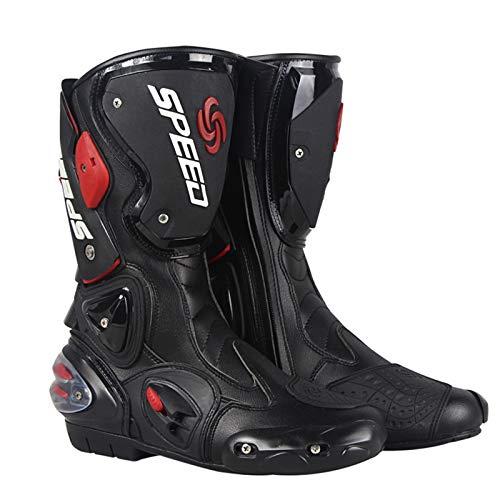 MRDEAR Motorrad Stiefel Wasserdicht aus PU Leder, Motocross Stiefel Herren Motorradstiefel Enduro Cross Stiefel Racing…