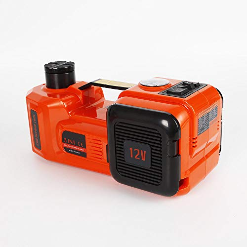 KANING Electric Hydraulic Jack,3 in 1 Electric Hydraulic Automotive Floor Jack Car Repair Tool Inflator Pump Wrench DC12V SUV Van and Emergency Equipment (5T)