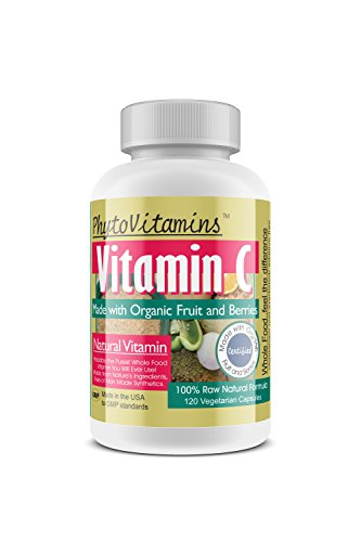 PhytoVitamins Whole Food Vitamin C Vegetarian Capsules; 120-Count, Made with Organic