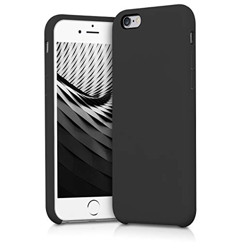 kwmobile TPU Silicone Case for Apple iPhone 6 / 6S - Soft Flexible Rubber Protective Cover - Black Matte