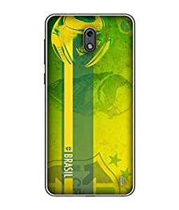 ColorKing Football Brazil 18 Green shell case cover for nokia 2