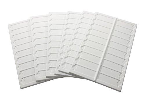 Bel-Art Microscope Slide Tray; 20 Capacity, 13½ x 6 ⅝ in., Plastic (Pack of 6) (H44581-0000)