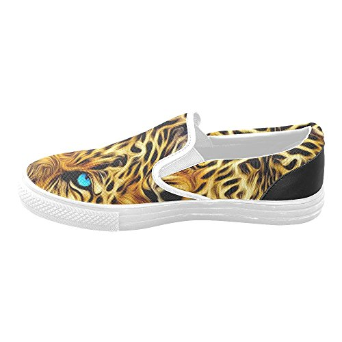 D-story Cool Leopard Mujer Slip-on Canvas Zapatos Moda Sneaker