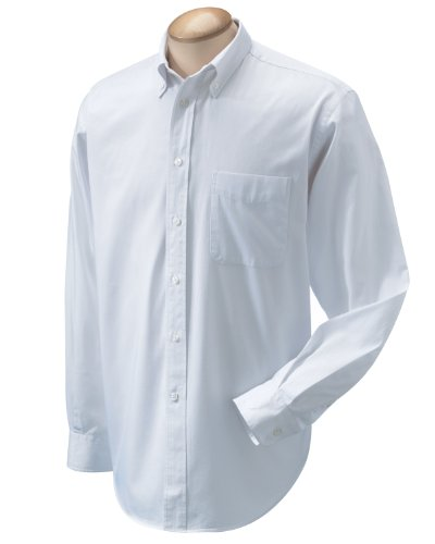 Chestnut Hill Mens 32 Singles Twill Oxford Shirt Ch500 (2X-Large / White)