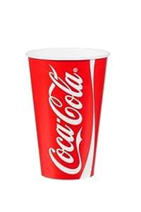 1000 x 12oz Coca Cola Vasos De Papel Y Paja Ranura Con Tapas, Bebidas Frías