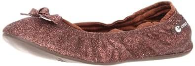 Ballasox by Corso Como Women's Salome Foldable Ballet Flat, Brown Glitter, 7 M US