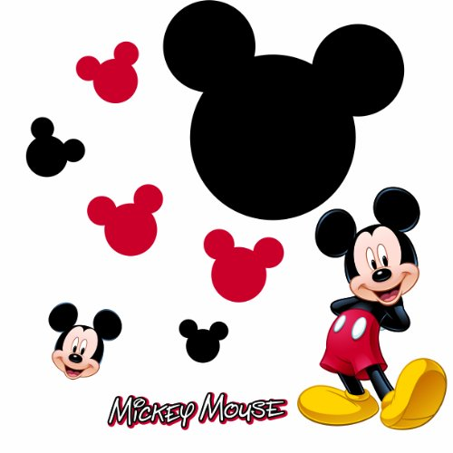 Roommates Rmk1506Gm Mickey Mouse Chalkboard Peel & Stick Wall Decal (Home Made Costume Mouse)