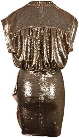 Luxury Fashion | Iro Dames WP33SAGRIAGOL01 Goud Elasthaan Jurken | Lente-zomer 20