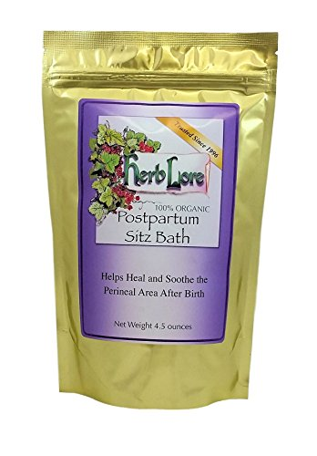 Herb Lore Organic Postpartum Sitz Bath, Heals and Soothes Sensitive Tissues After Giving Birth, Provides Episiotomy Relief and Care