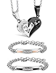Jstyle Jewelry: Your Reliable Choice of Fashion Jewelry High average review rating of jewelry collection. All handmade jewelry, well polished and one by one quality controlled. Affordable prices and luxury appearance.Jstyle 4Pcs Couple Neckl...