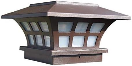 Huante Solar Post Lights Outdoor Fence Deck Caps Licht Zonne Aangedreven LED Verlichting Waterdicht voor Tuin Patio Decoratie