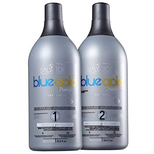 Salvatore Premium Blue Gold Progressive Brush 2x1L - Salvatore (Straightener Blue Hair)