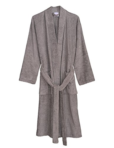 TowelSelections Women's Robe Turkish Cotton Terry Kimono Bathrobe Small/Medium Paloma Gray