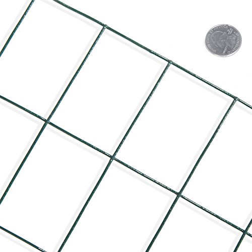 Fencer Wire 16 Gauge Green Vinyl Coated Welded Wire Mesh Size 2 inch X 3 inch (4 ft. x 50 ft.) by Fencer Wire