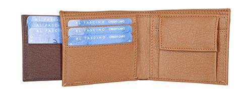 Al Fascino Stylish Tan and Brown PU Leather Wallet