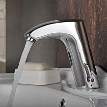 Chrome Finish Brass Bathroom Sink Automatic Faucet with Sensor Activated(Hot and Cold)