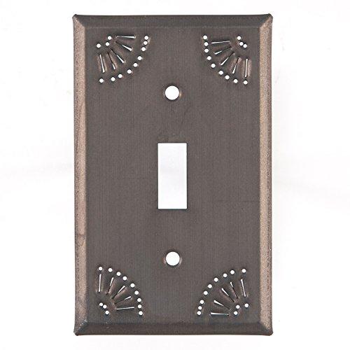 Single Switchplate Chisel Design Blacknd ()