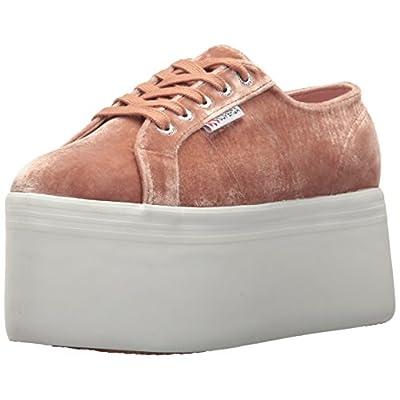 Superga Women's 2802 Velvetjpw Fashion Sneaker, Blush Velvet, 37 EU/6.5 M US   Fashion Sneakers