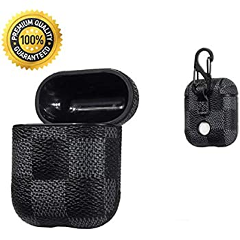 594f66311df Redx1 AirPods Leather Case Genuine Leather Portable Protective Shockproof  Cover for Apple AirPods Charging Case,Airpod Case (Black)