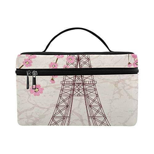 Vintage Vector Illustration Of Eiffel Tower On Gru Pattern L