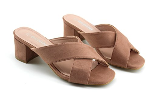 Modelisa - Sandalias Cruzadas Destanoladas Mujer Rosa