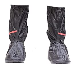 Motorcycle Rain Boot Covers with Rubber Sole Small
