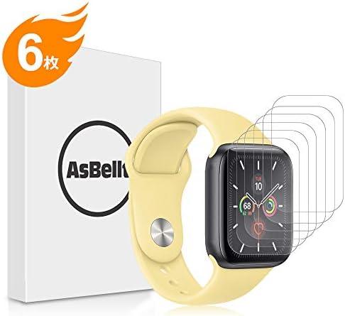 [해외]AsBellt Apple Watch Series 5Series 4 필름 Apple Watch 40mm 필름 제거 가능 부착 쉽고 부드러운 터치 거품 없는 99%의 높은 투과율 TPU 소재 애플 시계 필름 (40m m) / AsBellt Apple Watch Series 5Series 4 Film Apple Watch 40mm Film Re-past...