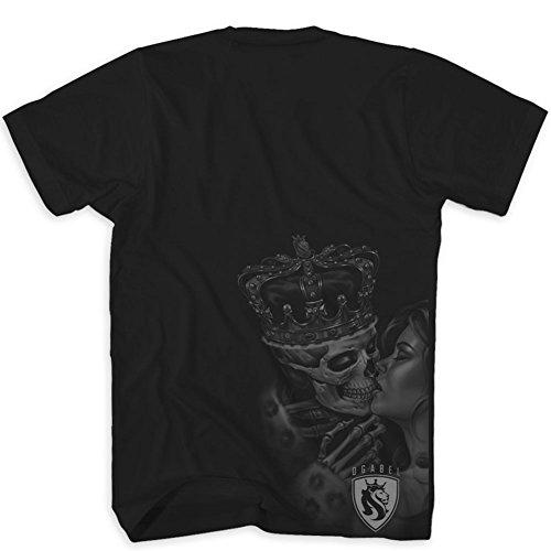 OGABEL Men's Lost King SS T Shirt Black