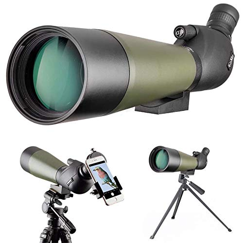Lowest Prices! Gosky Spotting Scope with Tripod, Carrying Bag and Scope Phone Adapter - BAK4 Angled ...