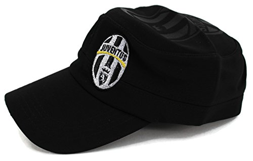 High End Hats World Soccer / Football Team Military Hat Collection Embroidered Flexfit Army Style Cap, Juventus Football Club, Black