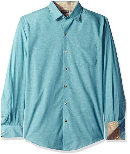 Van Heusen Men's Air Long Sleeve Shirt, Turquoise Wing Teal, XX-Large