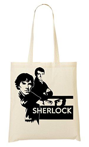 Sherlock Graphic Handbag Shopping Bag