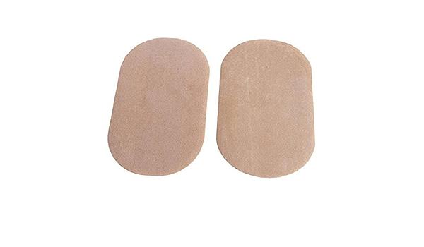 2Pieces DIY Applique Suede Leather Patches Sewing Applique Iron-on Elbow Knee Repair Decor Patches,Khaki