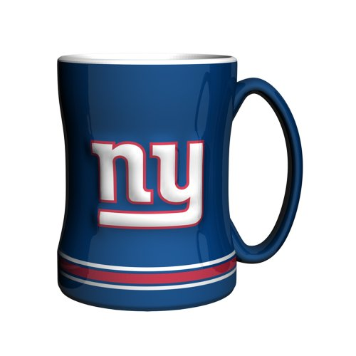 NFL New York Giants Sculpted Relief Mug, 14-ounce, Royal Blue (Nfl Coffee Mug Cup)