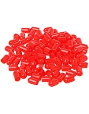 RUZYY 100Pieces 6mm Red Protective Cover Rubber Covers Dust Cap for SMA Connector