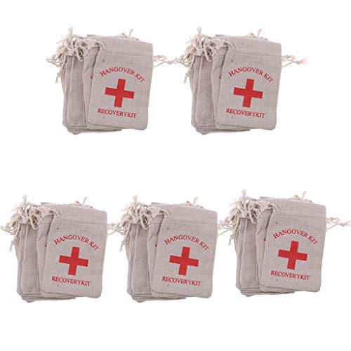 50pcs Bachelorette Party Hangover kit Bag Wedding Party Gift Favour -