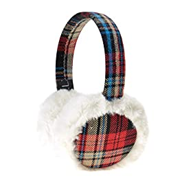 ZLYC Women Fashion Print Faux Fur Ear Warmers Winter Outdoor Earmuffs