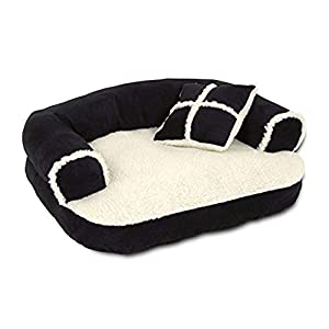 Petmate Aspen Pet Sofa Bed with Pillow for Comfort and Support – One Size – Assorted Colors Click on image for further info.